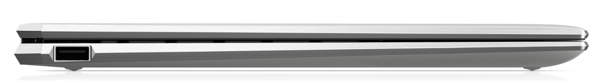 Side view HP Spectre x360, showing available ports